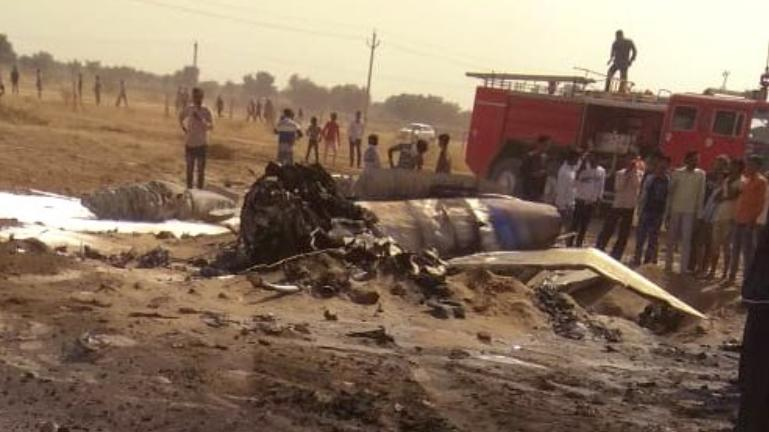 Air-Force-Mig-21-Accident-in-Bikaner-Rajasthan